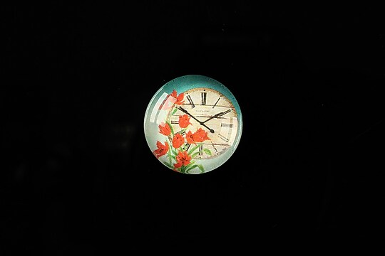 "Cabochon sticla 18mm ""Vintage clock"" cod 320"