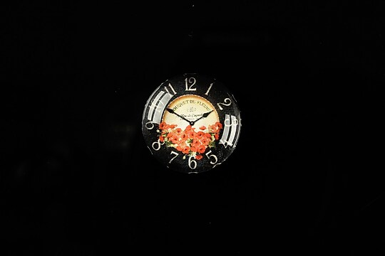 "Cabochon sticla 18mm ""Vintage clock"" cod 321"