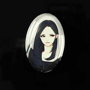 "Cabochon sticla 30x20mm ""Top model"" cod 281"