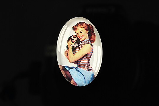 "Cabochon sticla 30x20mm ""Pin up girls"" cod 277"