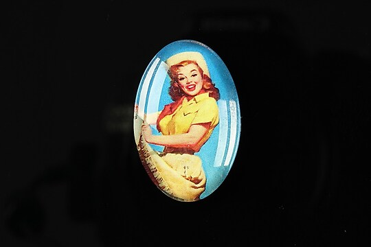"Cabochon sticla 30x20mm ""Pin up girls"" cod 274"