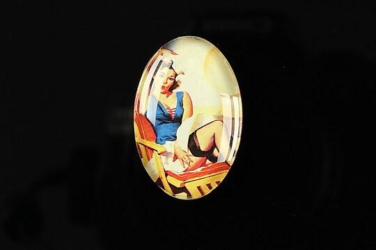 """Cabochon sticla 30x20mm """"Pin up girls"""" cod 273"""
