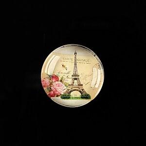 "Cabochon sticla 20mm ""J'adore Paris"" cod 361"