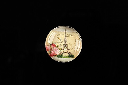 "Cabochon sticla 20mm ""J'adore Paris"" cod 361"
