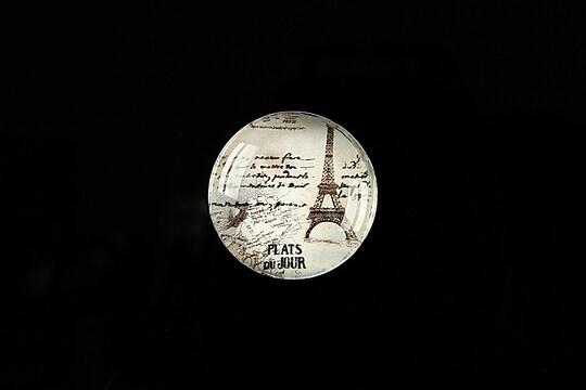 "Cabochon sticla 20mm ""J'adore Paris"" cod 362"