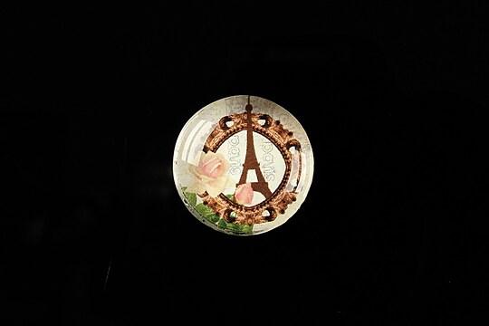 "Cabochon sticla 20mm ""J'adore Paris"" cod 363"