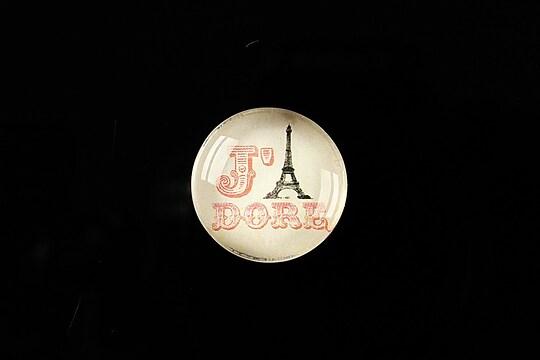 "Cabochon sticla 20mm ""J'adore Paris"" cod 364"
