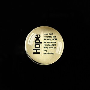 "Cabochon sticla 20mm ""Quotes about life - Hope"" cod 370"