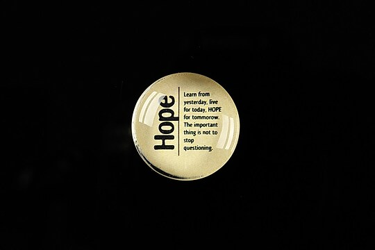 """Cabochon sticla 20mm """"Quotes about life - Hope"""" cod 370"""