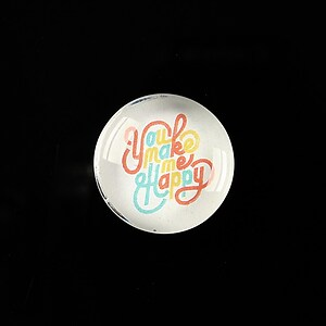 "Cabochon sticla 20mm ""All about hippie"" cod 372"