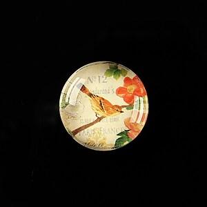 "Cabochon sticla 20mm ""Postage stamp"" cod 374"