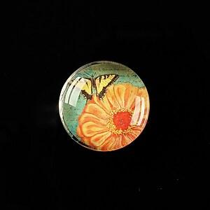 "Cabochon sticla 20mm ""Postage stamp"" cod 376"