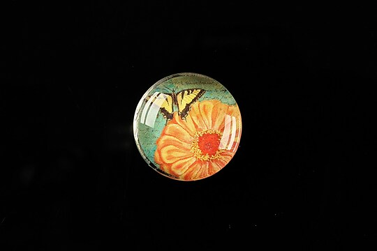 "Cabochon sticla 20mm ""Postage stamp"" cod 376"
