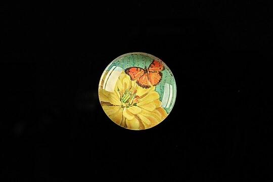 "Cabochon sticla 20mm ""Postage stamp"" cod 377"