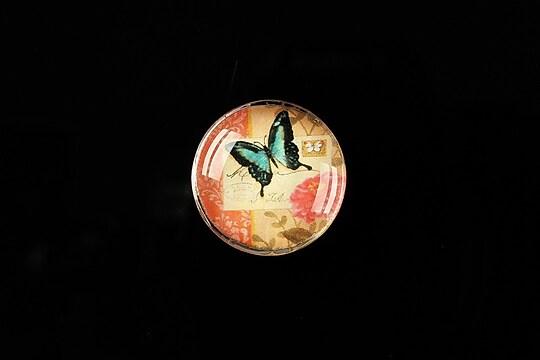 "Cabochon sticla 20mm ""Postage stamp"" cod 379"