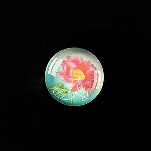 "Cabochon sticla 18mm ""Flower symbol"" cod 306"
