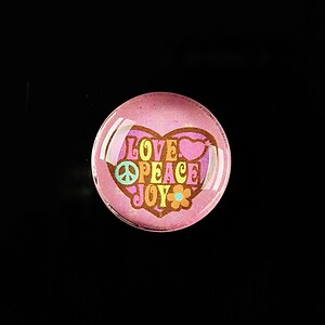 "Cabochon sticla 20mm ""All about hippie"" cod 371"