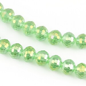 Cristale electroplacate, sfere 8mm - verde deschis