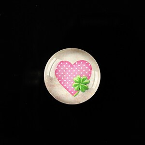 "Cabochon sticla 18mm ""Love without limits"" cod 305"