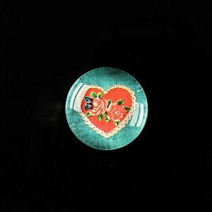 "Cabochon sticla 18mm ""Love without limits"" cod 304"