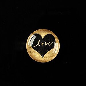 "Cabochon sticla 18mm ""Love without limits"" cod 300"