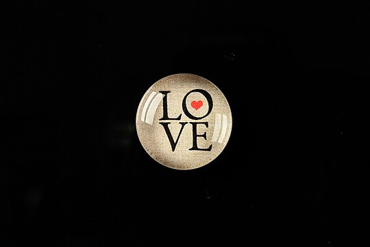 "Cabochon sticla 18mm ""Love without limits"" cod 303"
