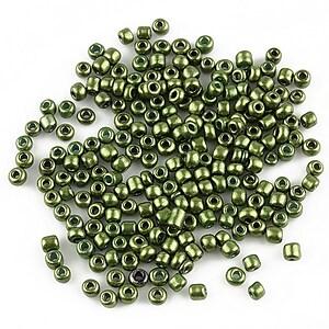 Margele de nisip lucioase 2mm (50g) - cod 148 - verde