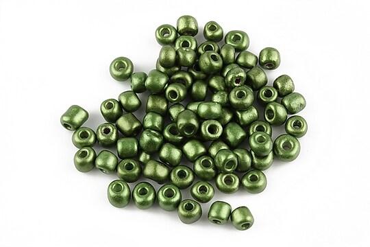 Margele de nisip lucioase 4mm (50g) - cod 171 - verde