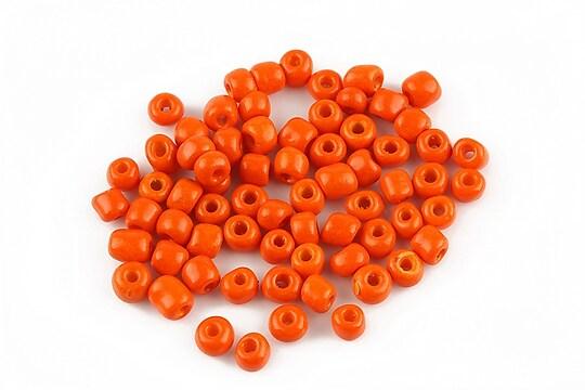 Margele de nisip opace 4mm (50g) - cod 107 - portocaliu