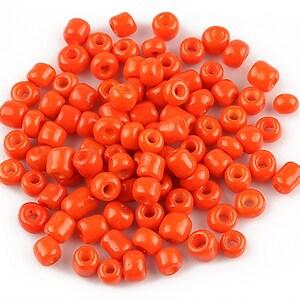 Margele de nisip opace 4mm (50g) - cod 273 - rosu corai