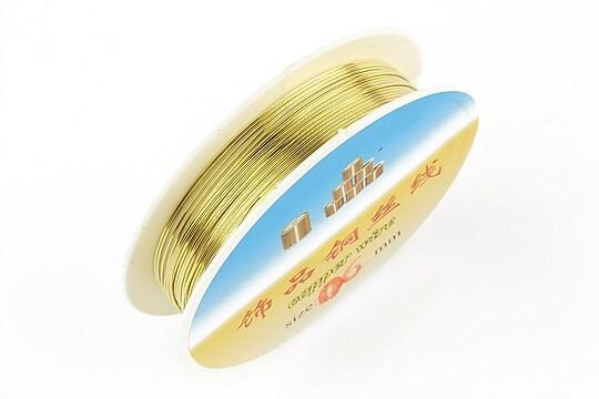Sarma de modelaj din cupru, auriu, grosime 0.6mm, rola de aproximativ 4m