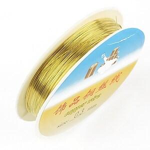 Sarma de modelaj din cupru, auriu, grosime 0.3mm, rola de aproximativ 22m