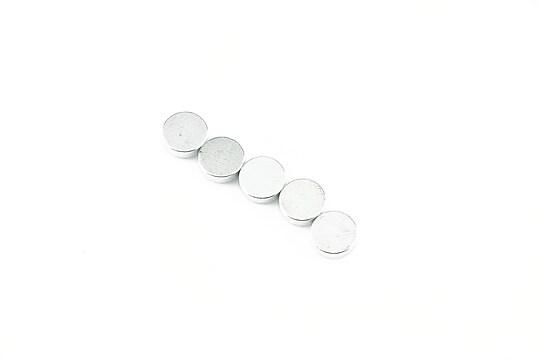 Magnet neodim banut 6mm, grosime 1,5mm, argintiu