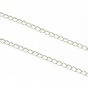 Lant argintiu inchis 6x3mm (49cm)