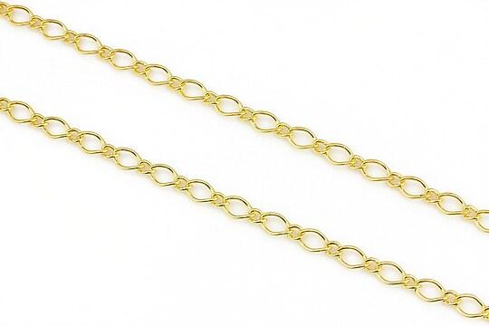 Lant auriu zale 8x35+4x3,5mm (49cm)