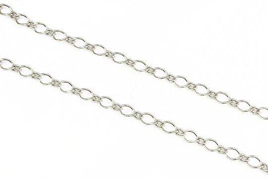 Lant argintiu inchis zale 8x35+4x3,5mm (49cm)