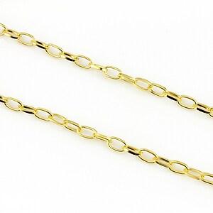 Lant auriu 6,9x3,8mm (49cm)