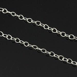 Lant argintiu 4,5x5,3mm (49cm)