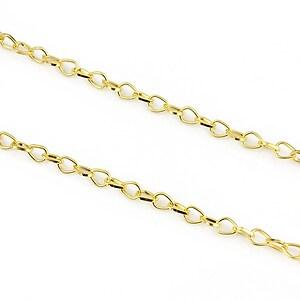 Lant auriu 6x4,5mm (49cm)