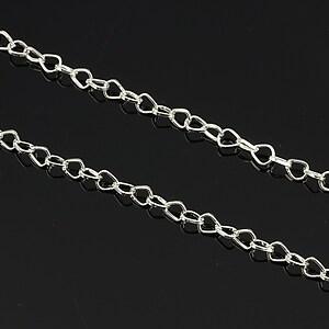 Lant argintiu 6x4,5mm (49cm)