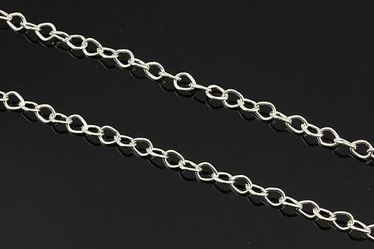 Lant argintiu 7x5mm (49cm)