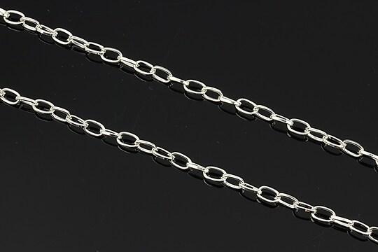 Lant argintiu 6,9x3,8mm (49cm)