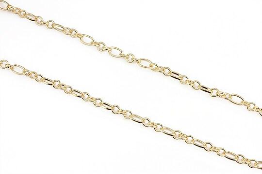 Lant auriu 7x3,5+4,5x3,5mm (49cm)