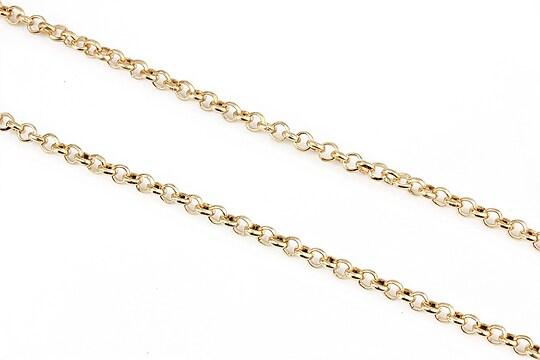 Lant auriu deschis zale rotunde 4mm (49cm)