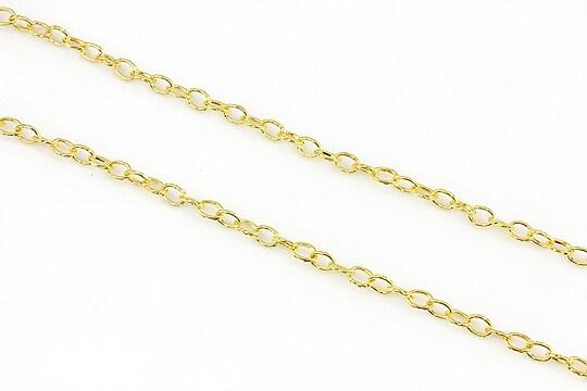 Lant auriu cu zale gravate 5x3,3mm (49cm)