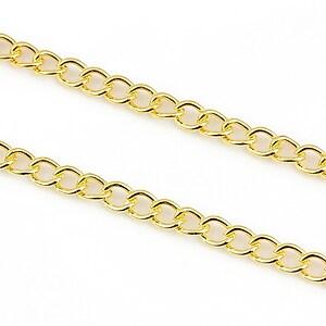 Lant auriu 5x4mm (49cm)