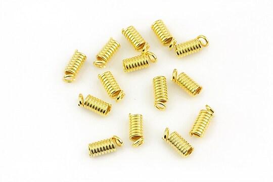 Terminatie de snur aurie 9x4mm (10 buc.)