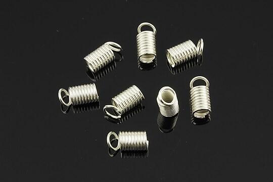 Terminatie de snur argintie 9x5mm (10 buc.)