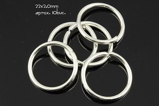 Zale argintii 22mm (grosime 2,0mm)
