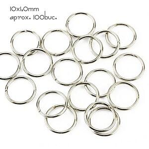 Zale argintiu inchis 10mm (grosime 1,0mm)
